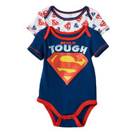 Baby Boy Superman 2-pk. Bodysuit - Built Tough
