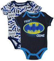 Baby Boy Batman 2-pk. Bodysuit - Fight Crime