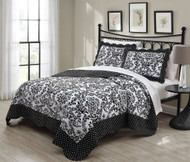 3 Piece King Donato Black/White Quilt Set