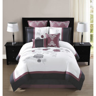 Maliah 8 Piece Embroidered 8-piece Comforter Set, Queen Size