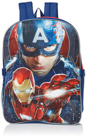 Marvel Boys' Captain America Backpack with Lunch Kit