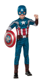 Marvel Captain America: The Winter Soldier Deluxe Retro Suit Costume, Child Large