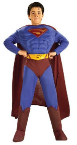 DC Comics Deluxe Muscle Chest Superman Costume, Small 4-6
