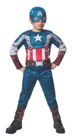 Marvel Captain America: The Winter Soldier Fiber-Filled Retro Suit Costume, Child Large