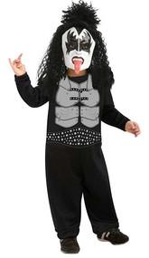 Kiss The Demon Gene Simmons Rock Star Costume Toddler 2-4