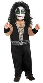 Kiss The Catman Peter Criss Rock Star Costume Toddler 2-4
