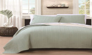 Benton 3 Pc Reversible Coverlets: Sage-Beige/Queen