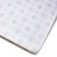 Wendy Bellissimo™ Mix & Match Damask Fitted Crib Sheet in Grey/Pink