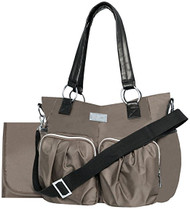 Wendy Bellissimo Main Squeeze Shirred Pocket Tote - Taupe