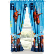 Disney Big Hero 6 Window Panels Curtains Drapes Set of 2 with Tiebacks
