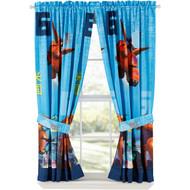 Disney Big Hero 6 Window Panels Curtains Drapes Set of 2 with Tiebacks