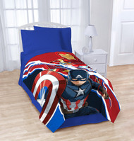 Marvel Captain America Civil War Lightning Plush Blanket