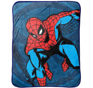 Marvel Spiderman Comic Plush Throw