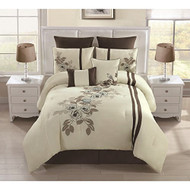 Alegra Embroidered 8-piece Comforter Set (Queen)