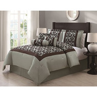Ardis Flocking 7-piece Comforter Set
