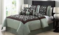 Ardis 7-Piece Flocked Damask Comforter Set