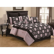 Ambreena Flocking 8-piece Comforter Set (Queen)
