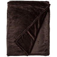 Amelia King Super Soft Flannel Blanket (Chocolate)