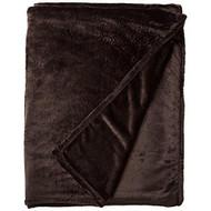 Amelia Queen Super Soft Flannel Blanket (Chocolate)