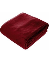 Amelia Queen Super Soft Flannel Blanket (Maroon)