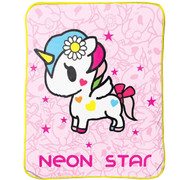 Tokidoki I Love Unicorns Plush Throw