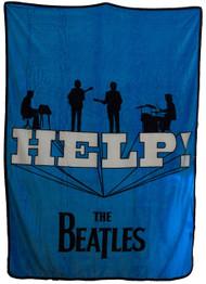 Bravado The Beatles 'Help' Themed Super Soft Plush Throw Blanket
