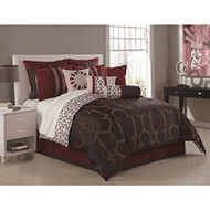 Jourdan 10-piece Jacquard Comforter Set (Queen)