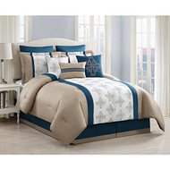 Sasha Embroidered 9-piece Comforter Set (Cal King)