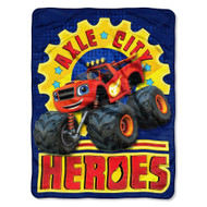 """Blaze and the Monster Machines """"Axle City Heroes"""" Super Plush Throw"""