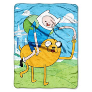 Adventure Time Fist Pump Plush Throw Blanket