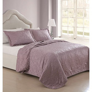 Sherry Matte Satin Dusty Pink 3-piece Coverlet Set (Queen)