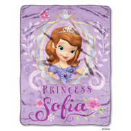 "Sofia the First ""Watercolors"" Micro Raschel Throw - 46""x60"""