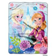 """Disney's Frozen """"Floral Fjord"""" Plush Throw"""