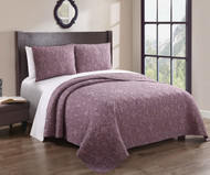 Gieselle Wine 100% Cotton Embroidered Quilt Set King