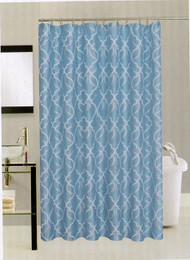 Avenue Home Fashion Palace Shower Curtain (Aqua)