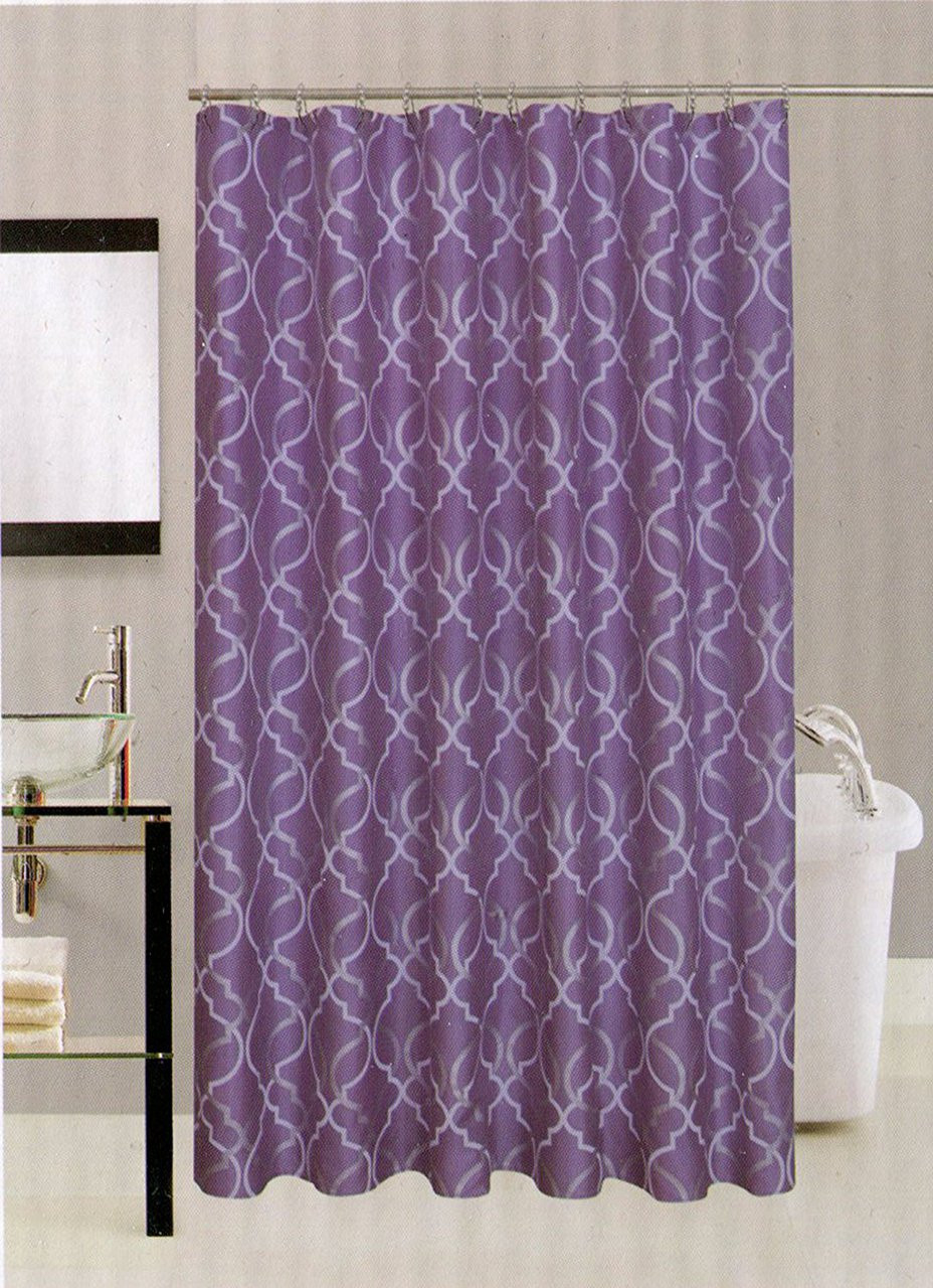 Avenue Home Fashion Palace Shower Curtain (Lavender