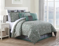 9 Piece King Clara 100% Cotton Comforter Set
