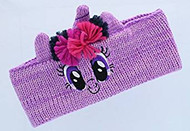 My Little Pony Girl's Knit Headband/Earmuffs (Twilight Sparkle)