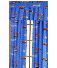 "Disney Pixar Cars 63"" Rod Pocket Window Curtain Drapes"