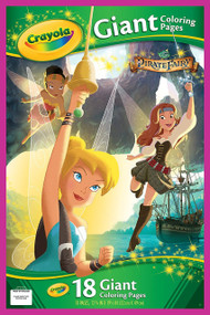 "Crayola Giant Coloring Pages - Disney Fairies ""The Pirate Fairy"""