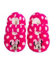 Minnie Mouse Fuzzy Dots Slipper Socks (2T-3T)