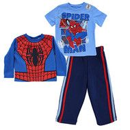 "Spiderman ""Flying Spidey"" 3-Piece Toddler Shirts & Pants Set"