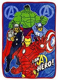 Marvel Avengers Assemble Toddler Plush Fleece Blanket
