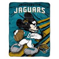 NFL Jacksonville Jaguars Mickey Mouse Plush Throw Blanket