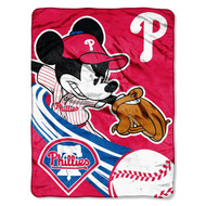 MLB Philadelphia Phillies Mickey Mouse Plush Throw Blanket
