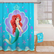 Disney Little Mermaid Fabric Shower Curtain