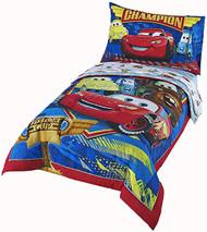 """Disney/Pixar Cars """"Team 954"""" 4 Piece Toddler Bed Set"""