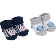 Gerber Boys 2 Pack Booties (0-6 months)