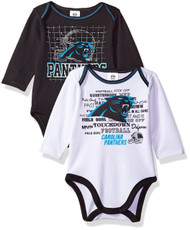 "NFL ""PANTHERS"" 2-Pack Long Sleeve Bodysuit (18 months)"
