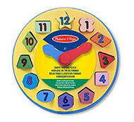 Wooden Shape Sorting Learning Clock